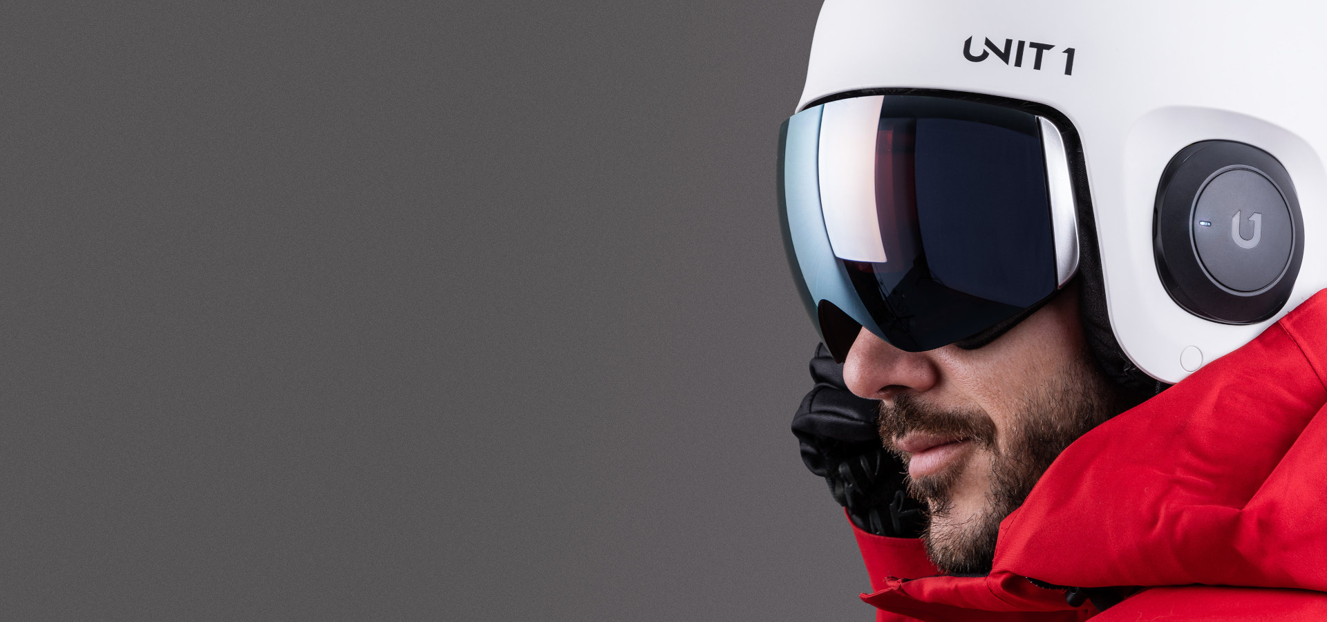 Unit 1 Ski Helment With Audio Speakers Headphone