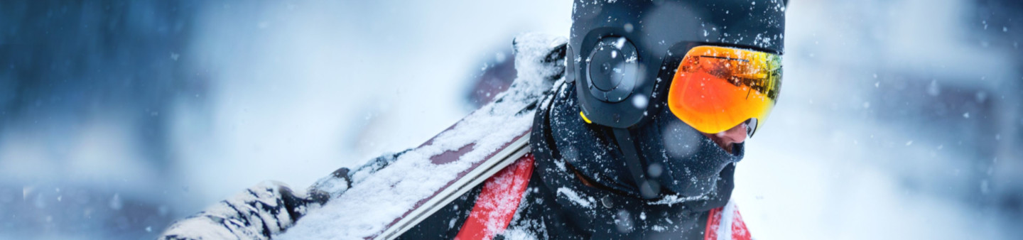 Wearing Unit1 Soundshield™ Helmet and Headphones in snow